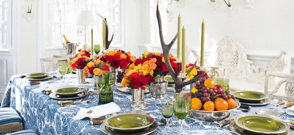 fresh table decor for fall