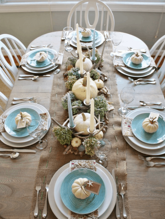 diy coastal table decoration