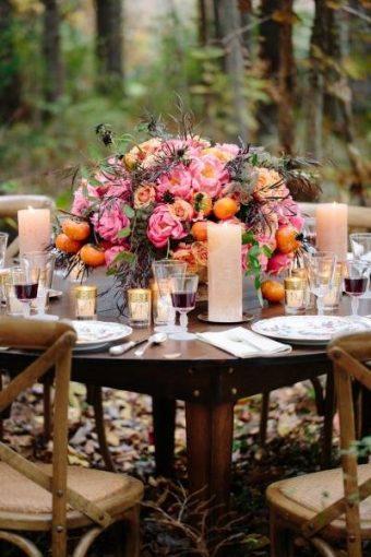 forest diy table decor