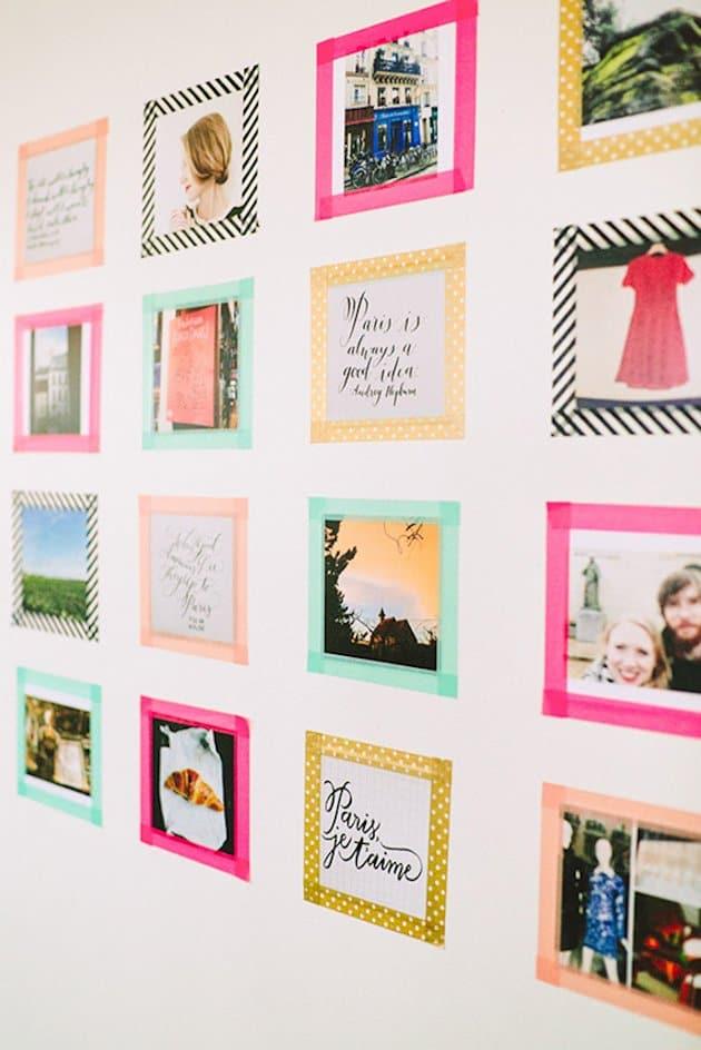Washi Tape Photo Display