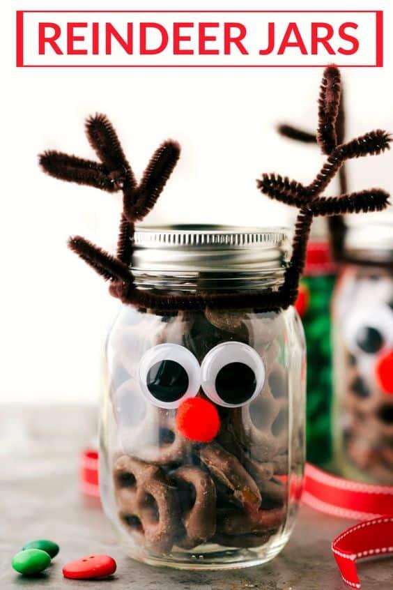 Christmas Reindeer Jars