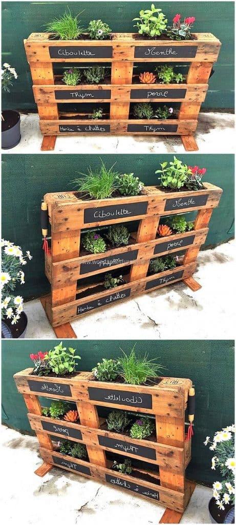 pallet-herb-planter