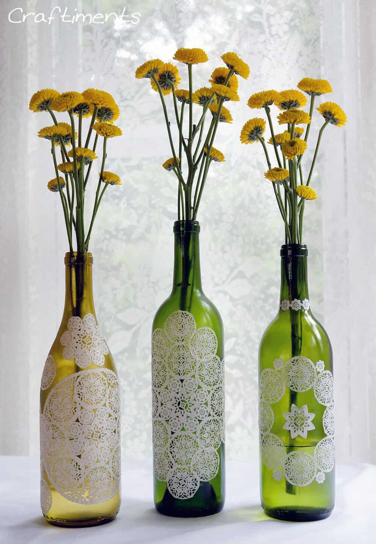 craftimentscom 50 Beautiful Wine Bottle Crafts to