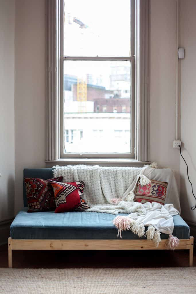 These Sisters From Vancouver Were Tight On A Budget So They Decided To  Build A Couch On Their Own Out Of An Ikea Bed. Itu0027s A Very Cheap  Alternative To ...