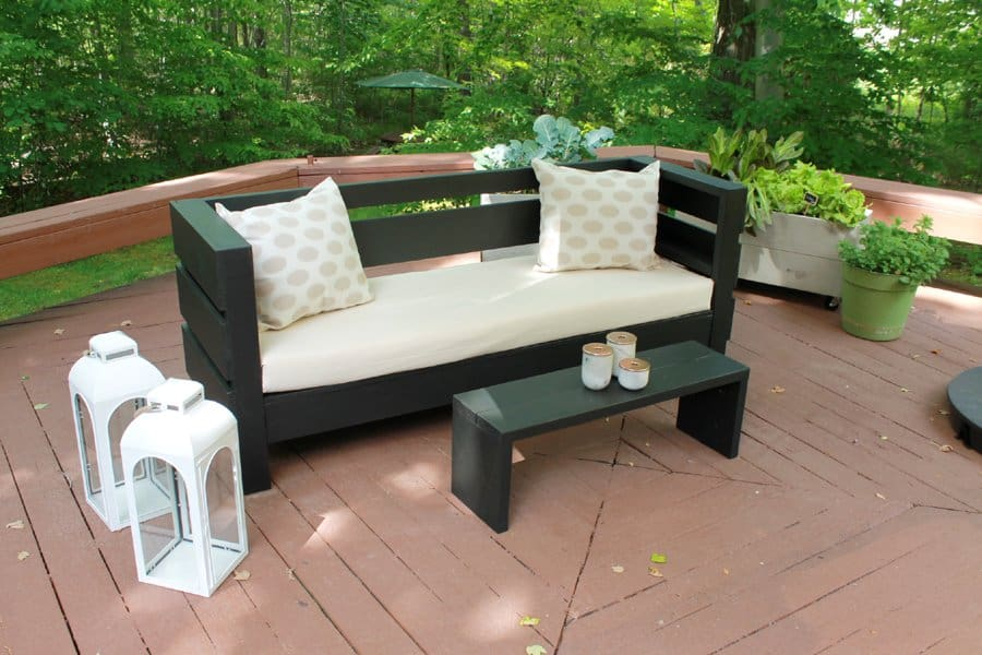 This DIY Sofa By Ursula Can Be Built At A Fraction Of The Cost Of A New Sofa  You Would Buy. This Modern Styled Outdoor Sofa Is The Average 72 Couch  Size, ...