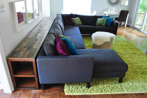 12-foot Long DIY Living Room Sofa Table