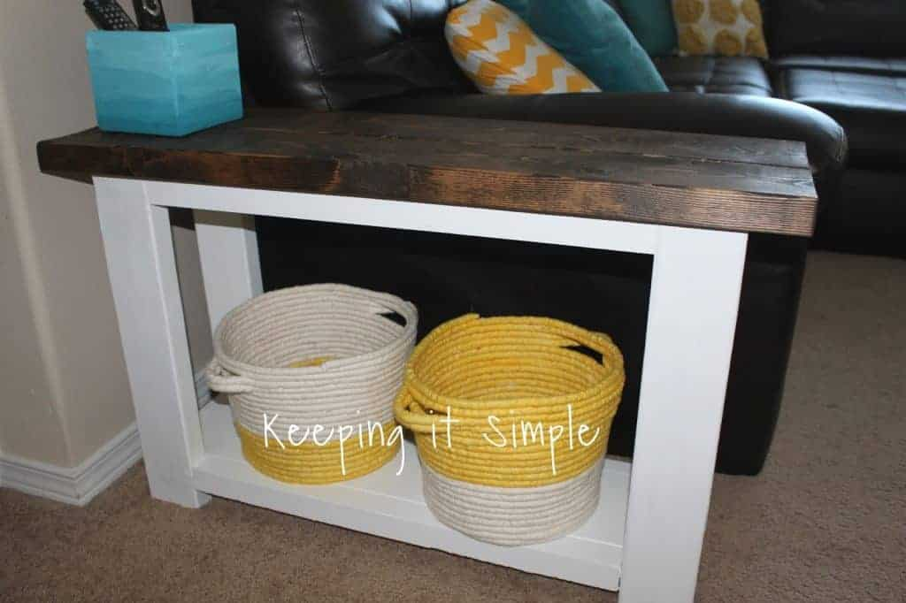 $15 DIY Side Table for Sectional Sofa