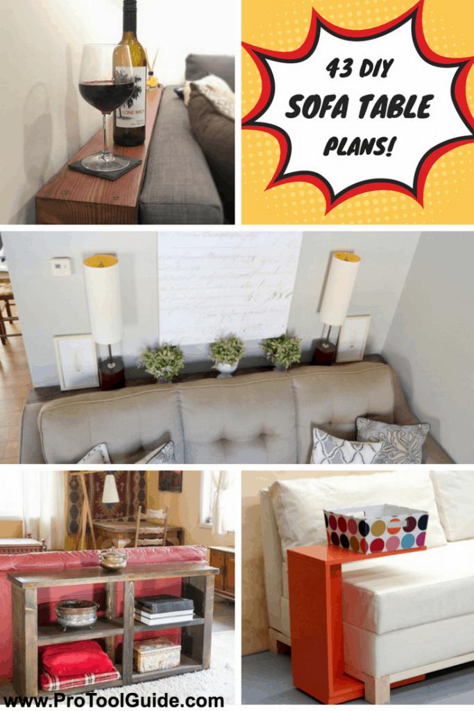 43 Classy Diy Sofa Tables
