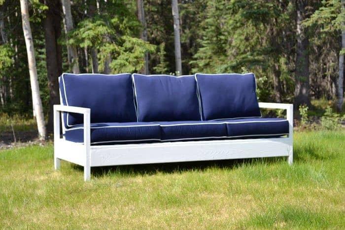 Cottage Style White DIY Outdoor Sofa