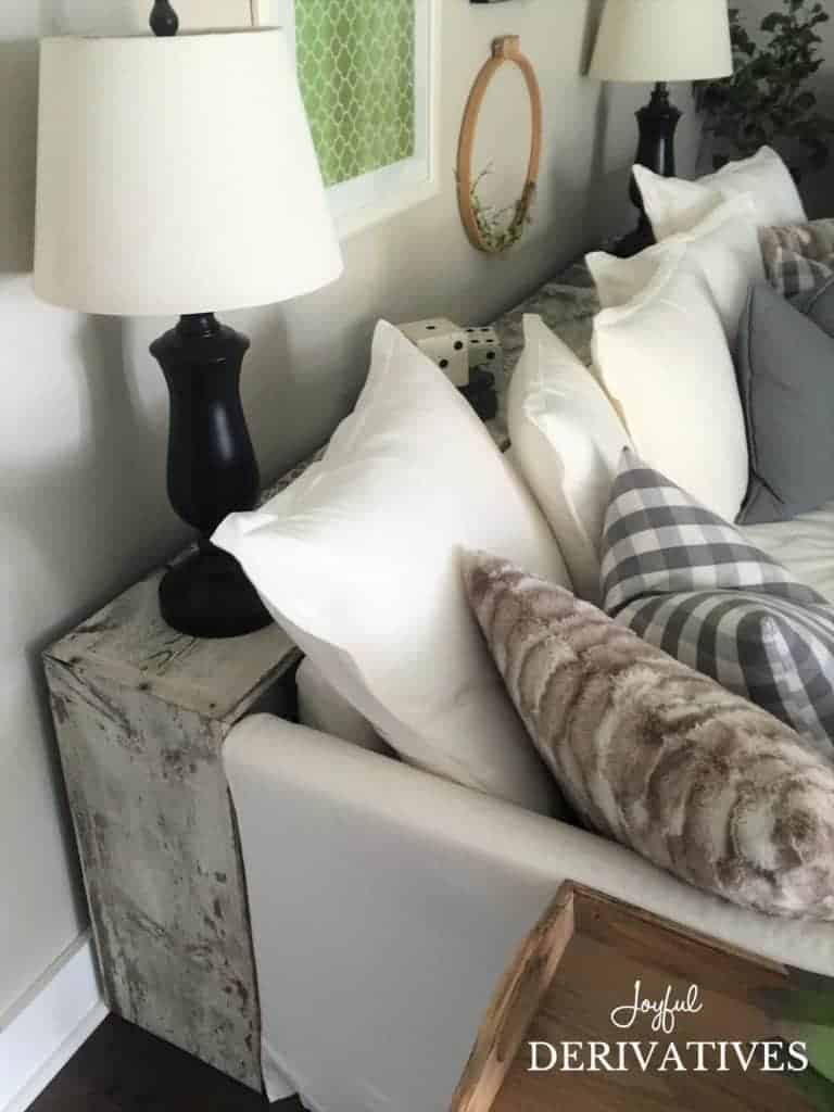 DIY Behind the Sectional Sofa Table