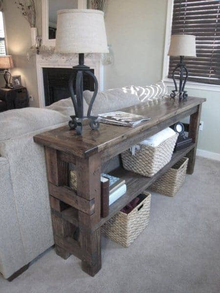 DIY Bench into a Sofa Table Project