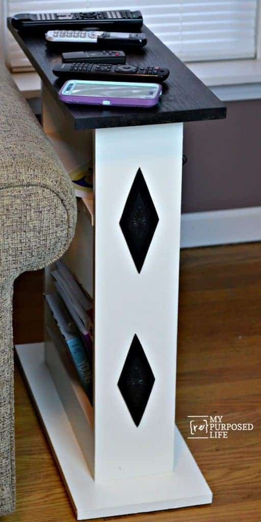 DIY Custom Small Sofa Side Table