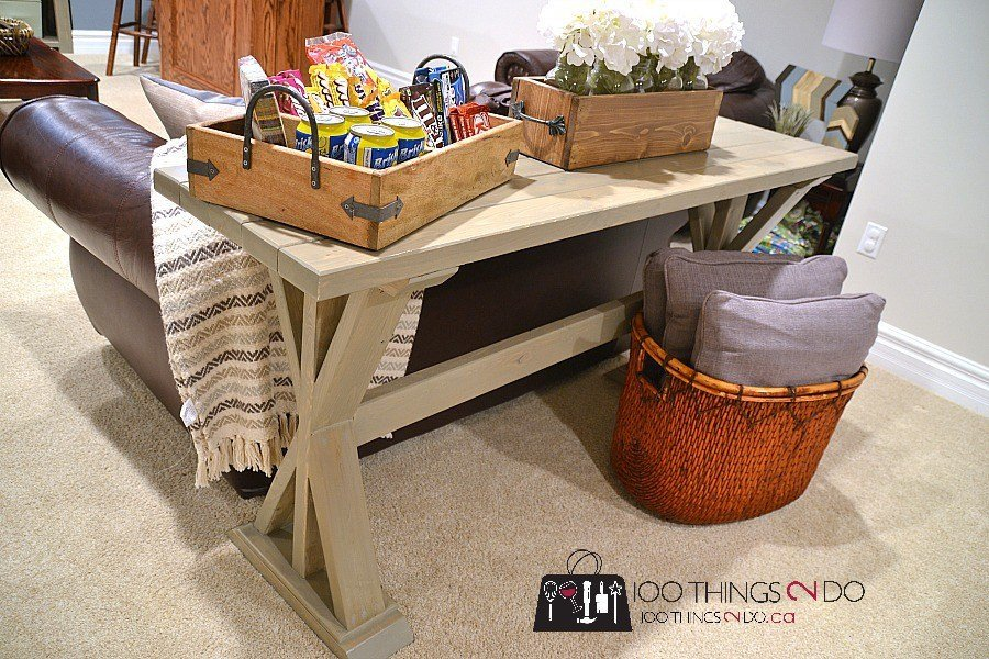 DIY Entryway Sofa Table