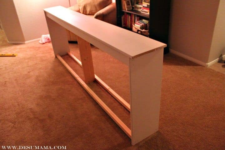 DIY Extra Long Sofa Table