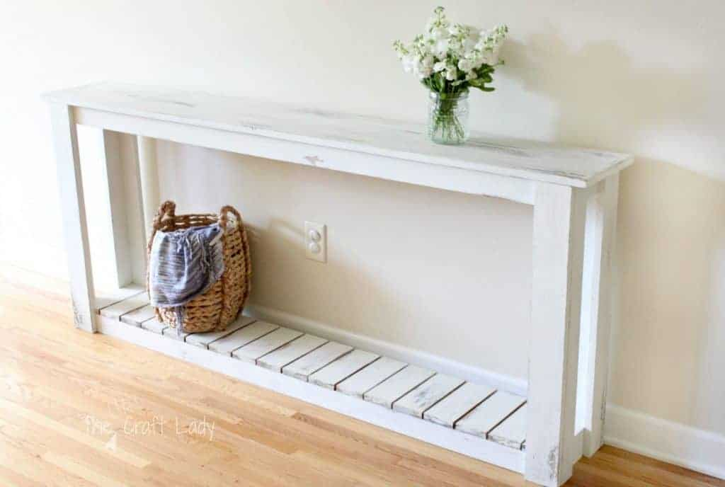 DIY Farmhouse Style Sofa Table