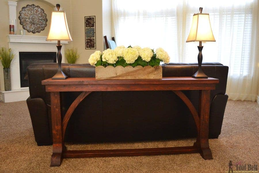 DIY Narrow Style Sofa Table