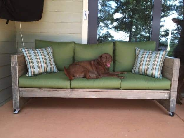 DIY Outdoor Beam Sofa