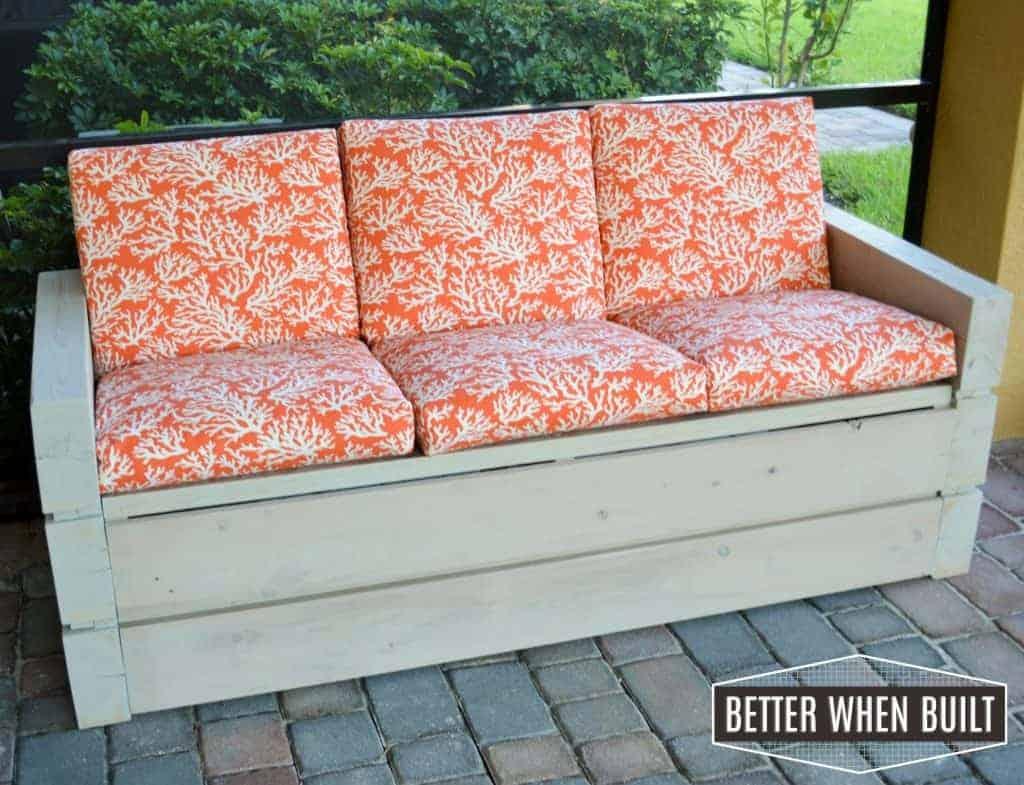 DIY Outdoor Lanai Sofa