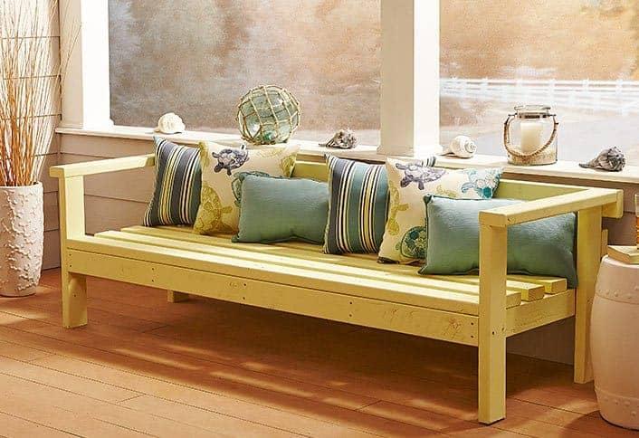 DIY Outdoor Sofa Bench Project