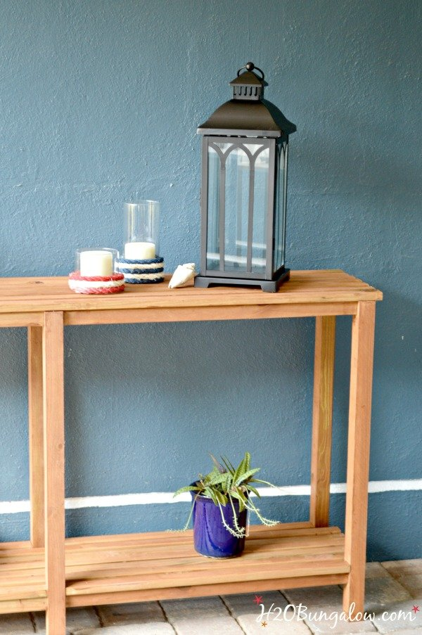 DIY Outdoor Sofa Table by H20Bungalow