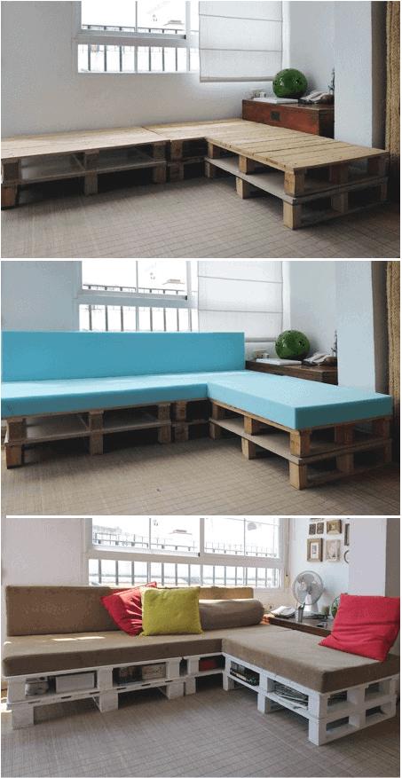 DIY Pallet Comfy Sofa