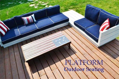 DIY Platform Outdoor Sectional Sofa