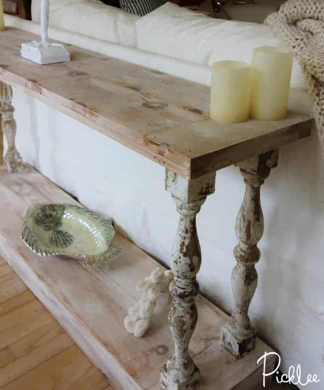 DIY Reclaimed Sofa Table