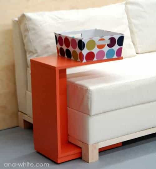 DIY Rolling Sofa Table by Ana White