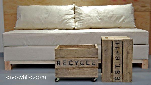 DIY Storage Sofa Plan