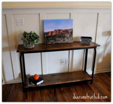 DIY Upcycled into Sofa Table