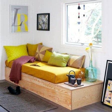 Pine Wood Modern Freestyle Sofa