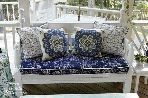 Piped Bench Outdoor Sofa Cushion