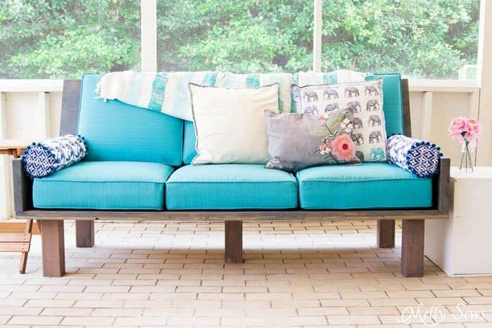 Plywood DIY Outdoor Sofa Couch