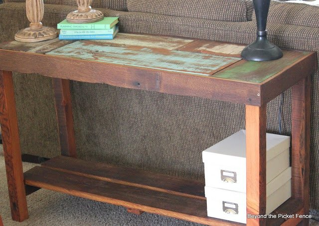 Reclaimed Wood Sofa Table Project