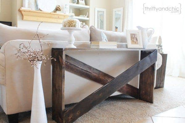 Simple Yet Stylish DIY Sofa Table