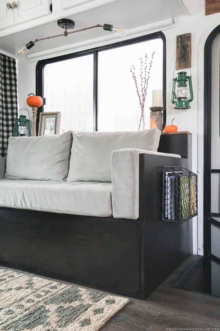 Small DIY Sofa for RV with Storage