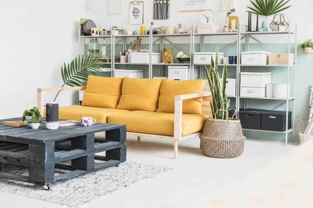 Stylish DIY Wooden Studio Sofa