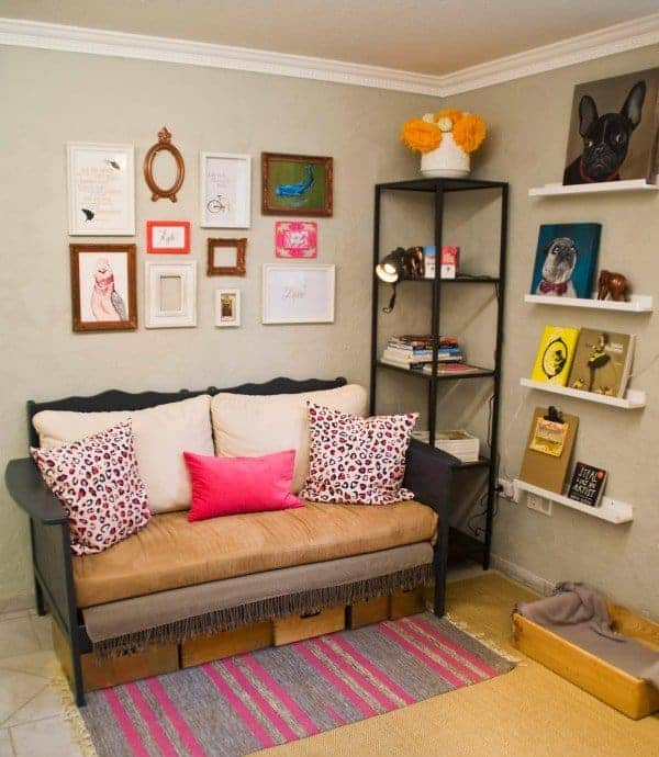 Upcycled Crib into Cute Couch