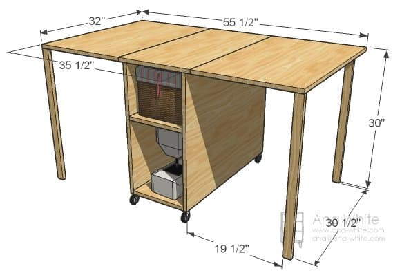 27 Artful Diy Sewing Table Plans