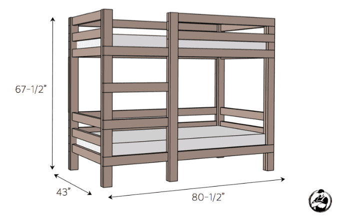 68 Amazing Diy Bunk Bed Plans