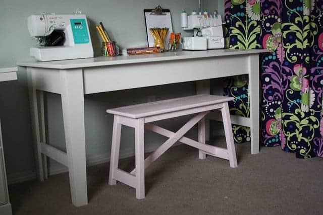 Ana-White Narrow Farmhouse Table