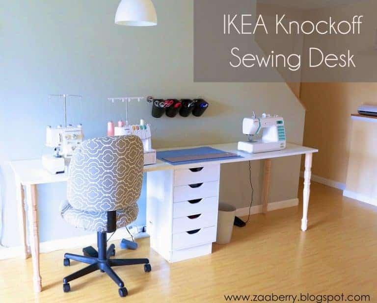DIY IKEA Knock Off Sewing Table