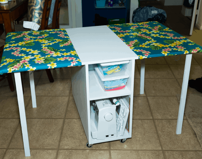 DIY Inexpensive Sewing Table Design