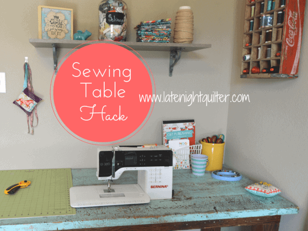 Drop-in Sewing Table Hack