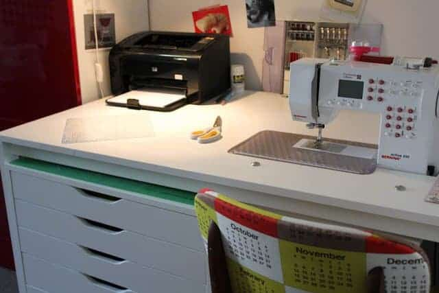 Mid-Century Modern Sewing Desk