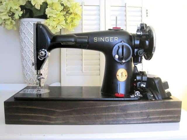 Singer Sewing Machine Wood Base