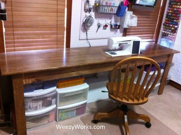 The Extra Long 2 Foot Wide Needlework Table Project
