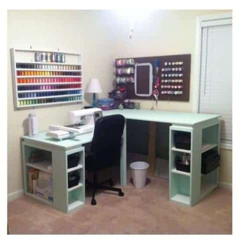 Sewing Table Desk Combination
