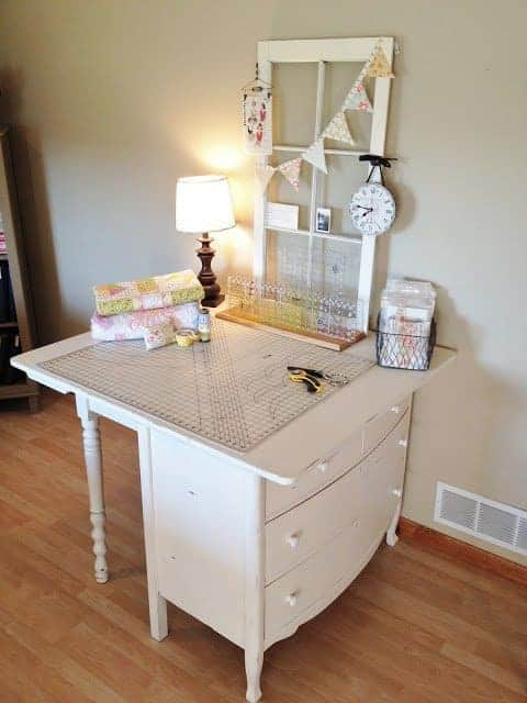 The White Sewing Desk Table Plan