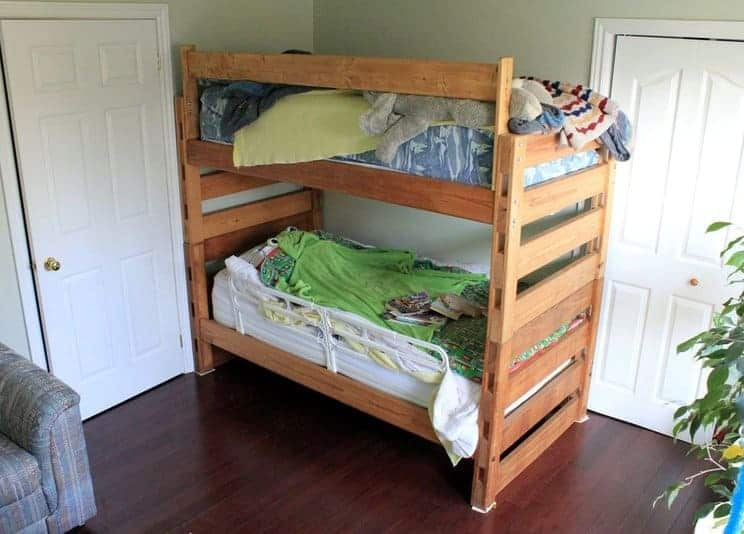 The Wood Topped Side Cubby Crafts and Sewing Table Idea